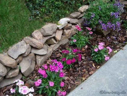 Modern Flower Beds Rocks Ideas For Front House To Try 31