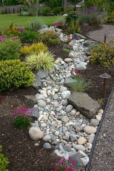 Modern Flower Beds Rocks Ideas For Front House To Try 40