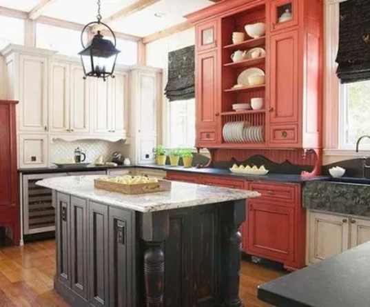 Relaxing Kitchen Cabinet Colour Combinations Ideas To Try 46