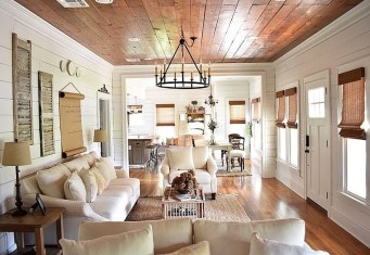 Splendid Farmhouse Living Room Decor Ideas 26