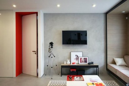 Superb Red Apartment Ideas With Rustic Accents 11
