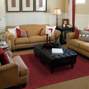 Superb Red Apartment Ideas With Rustic Accents 14