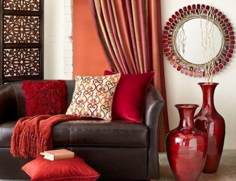 Superb Red Apartment Ideas With Rustic Accents 16