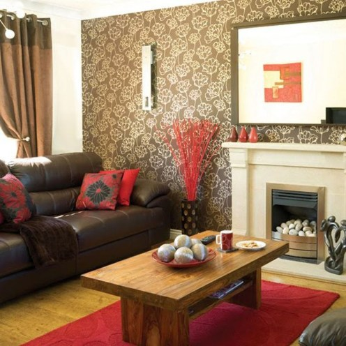 Superb Red Apartment Ideas With Rustic Accents 17