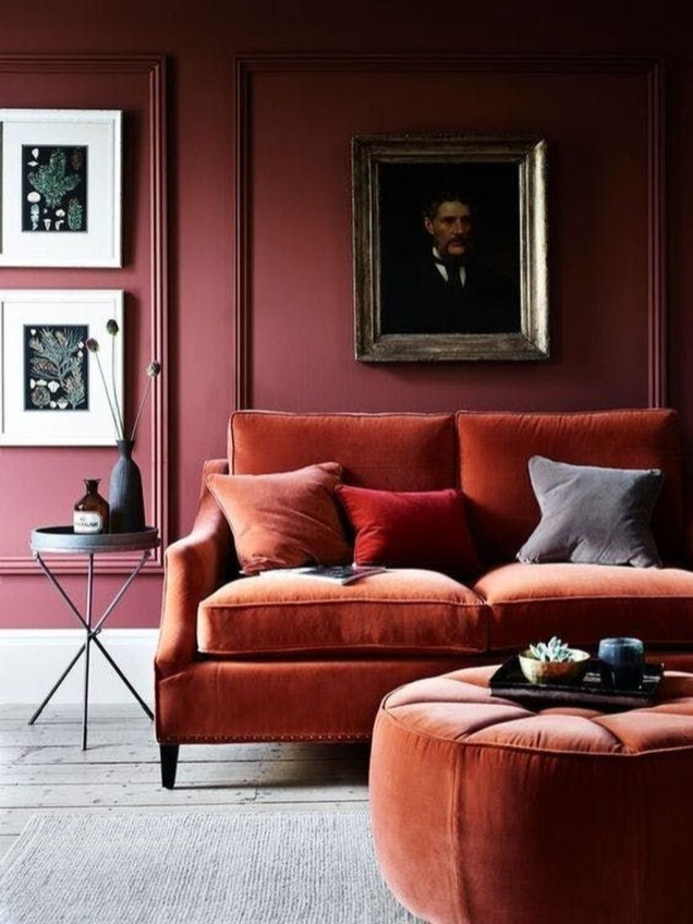 Superb Red Apartment Ideas With Rustic Accents 19