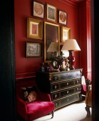 Superb Red Apartment Ideas With Rustic Accents 27