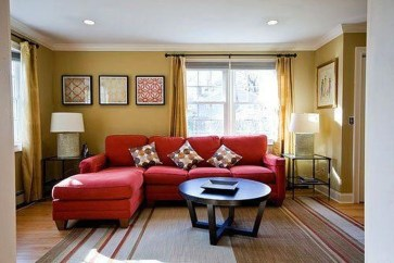 Superb Red Apartment Ideas With Rustic Accents 30