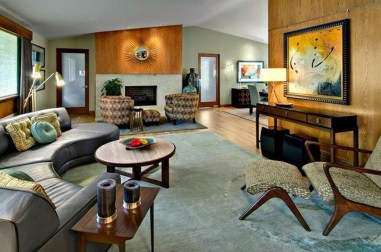 Comfortable And Modern Mid Century Living Room Design Ideas 09