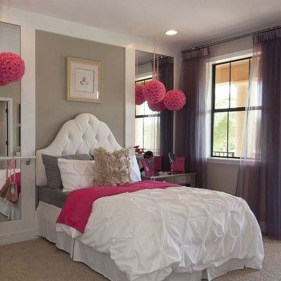 Cute And Girly Pink Bedroom Design For Your Home 01