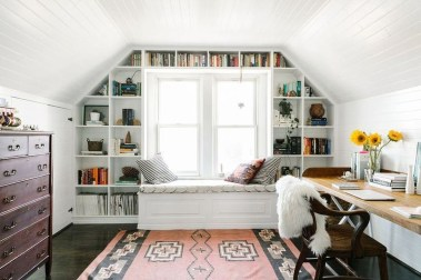Elegant Small Attic Bedroom For Your Home 21