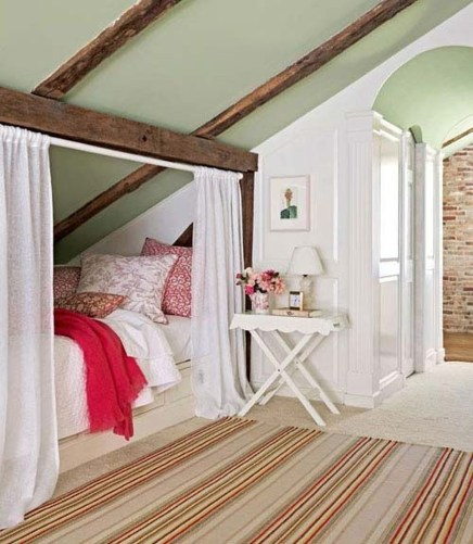 Elegant Small Attic Bedroom For Your Home 45