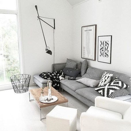 Gorgeous Scandinavian Living Room Design Ideas 14
