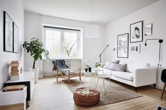Gorgeous Scandinavian Living Room Design Ideas 19