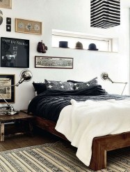 Masculine And Modern Man Bedroom Design Ideas 08