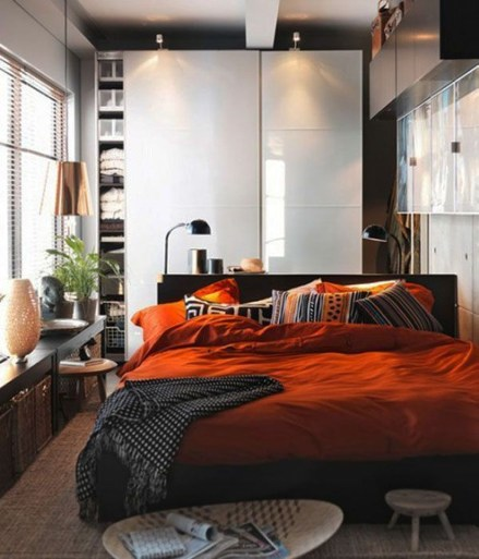 Masculine And Modern Man Bedroom Design Ideas 20