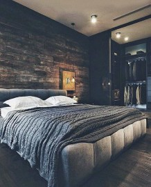 Masculine And Modern Man Bedroom Design Ideas 28