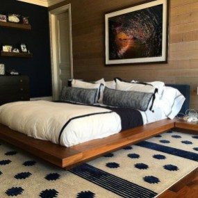 Masculine And Modern Man Bedroom Design Ideas 34