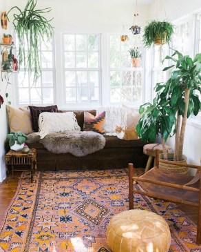 Stunning Bohemian Living Room Design Ideas 07