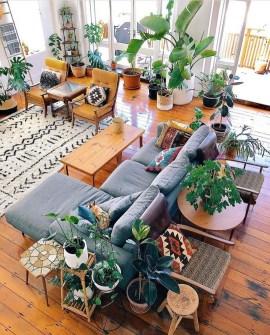 Stunning Bohemian Living Room Design Ideas 18