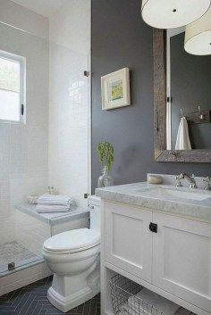 Stylish Small Master Bathroom Remodel Design Ideas 05
