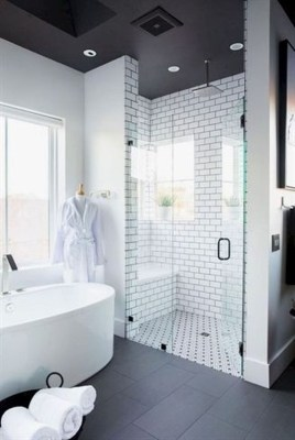 Stylish Small Master Bathroom Remodel Design Ideas 34