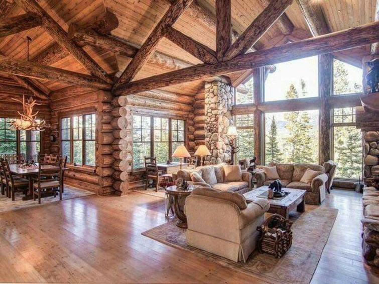 Amazing Lodge Living Room Decorating Ideas 23