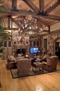 Amazing Lodge Living Room Decorating Ideas 29