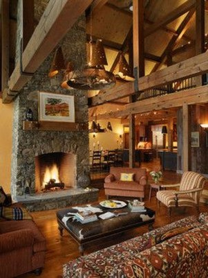 Amazing Lodge Living Room Decorating Ideas 33