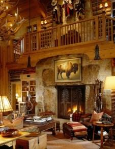 Amazing Lodge Living Room Decorating Ideas 37