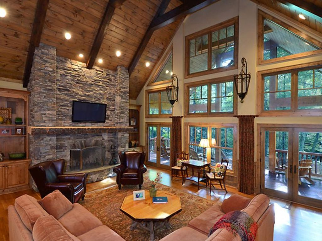 amazing living room photos ideas | 46 Amazing Lodge Living Room Decorating Ideas - HOMYSTYLE