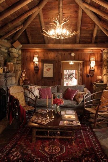 Amazing Lodge Living Room Decorating Ideas 43