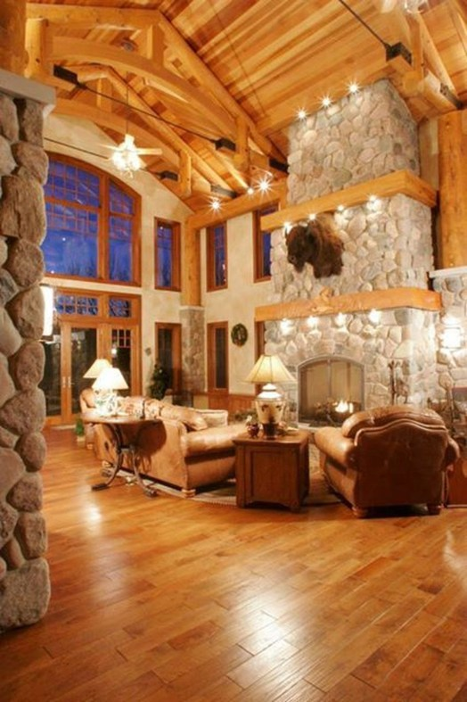Amazing Lodge Living Room Decorating Ideas 44