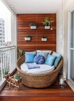 Awesome Apartment Balcony Design Ideas 21