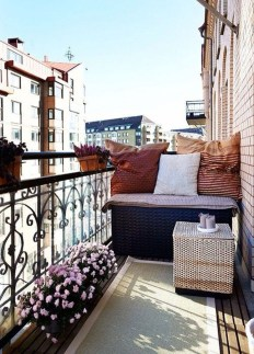 Awesome Apartment Balcony Design Ideas 23