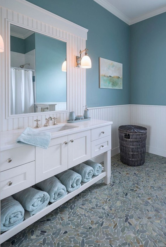 Beautiful Bathroom Decoration In A Coastal Style Decor 19