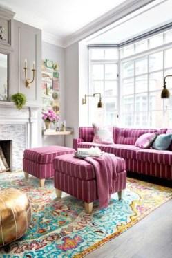 Cute Pink Lving Room Design Ideas 07