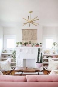 Cute Pink Lving Room Design Ideas 12