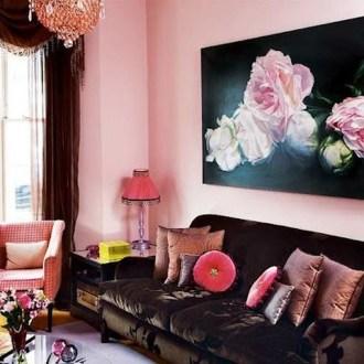 Cute Pink Lving Room Design Ideas 17