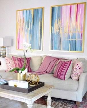 Cute Pink Lving Room Design Ideas 31