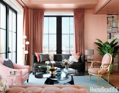 Cute Pink Lving Room Design Ideas 33