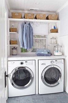 Efficient Small Laundry Room Design Ideas 30