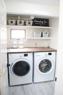 Efficient Small Laundry Room Design Ideas 36