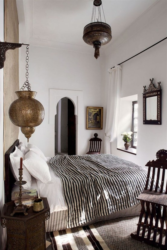 Fascinating Moroccan Bedroom Decoration Ideas 16