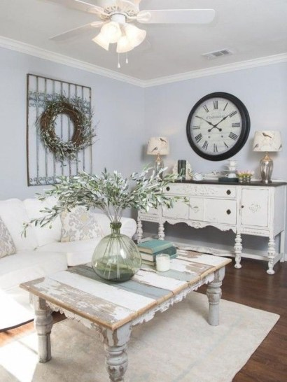Lovely Shabby Chic Living Room Design Ideas 06