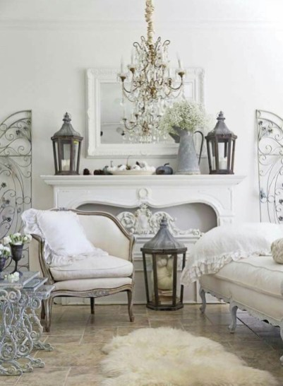 Lovely Shabby Chic Living Room Design Ideas 09