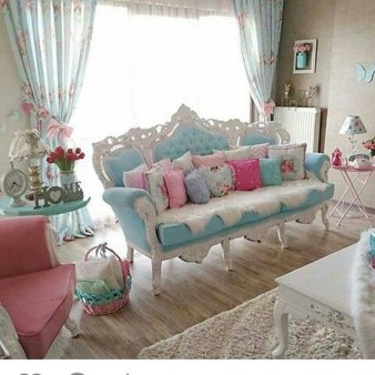 Lovely Shabby Chic Living Room Design Ideas 18