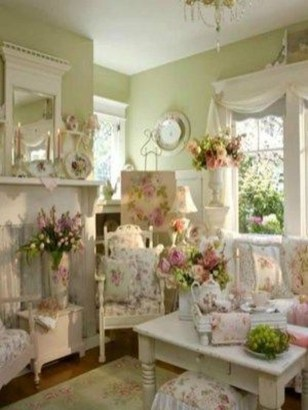 Lovely Shabby Chic Living Room Design Ideas 20
