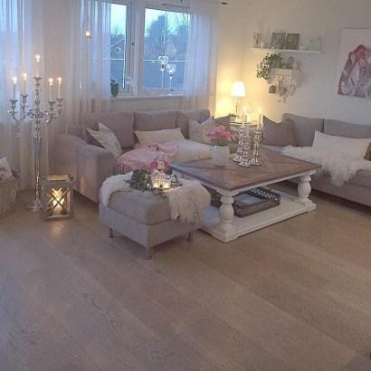 Lovely Shabby Chic Living Room Design Ideas 21