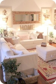 Lovely Shabby Chic Living Room Design Ideas 27