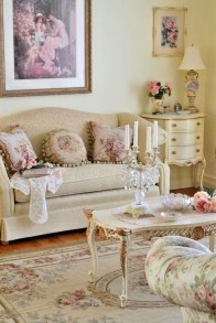 Lovely Shabby Chic Living Room Design Ideas 28